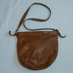Tignanello Brown Leather Shoulder Bag Purse